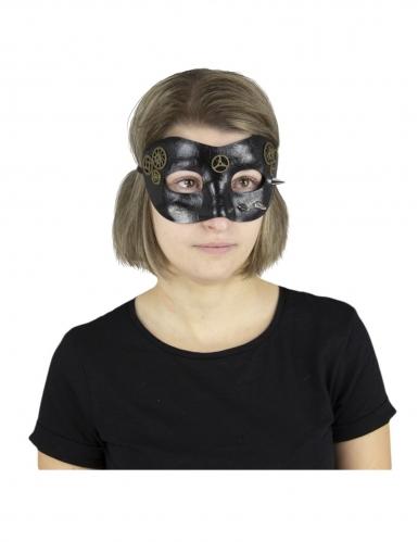 Steampunk-Maske schwarz-bronze-silber