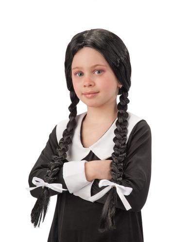 Schulmädchen-Perücke für Kinder schwarz-weiss