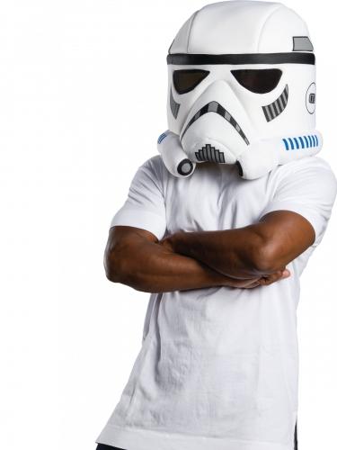 Stormtrooper™-Maske für Erwachsene weiss-schwarz