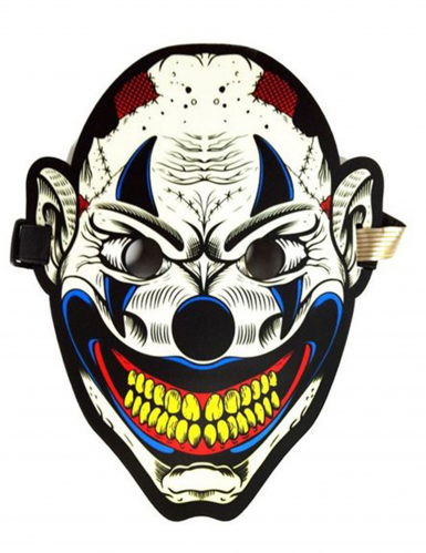 Harlekin-Maske mit Lichtakkustik für Erwachsene bunt
