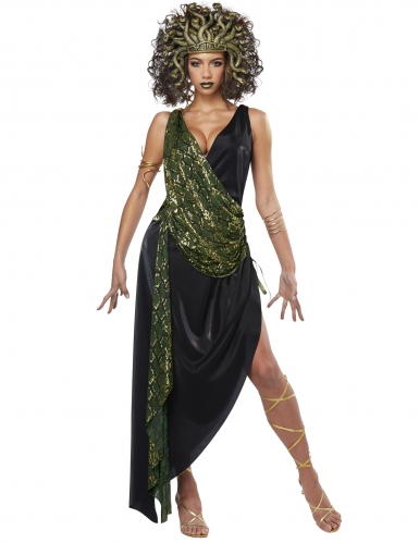 Sexy Medusa-Kostüm für Damen grün