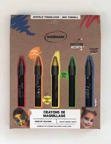 Make-up Stifte Set 5 Stück regenbogenfarben 2,8 g