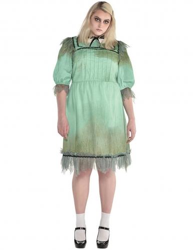 Horror-Zwilling Damenkostüm in Übergröße grün
