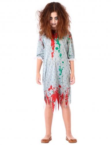 Zombie Kinderkostüm Nachthemd bunt