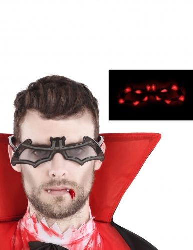 Leuchtende Vampir-Brille Halloween-Accessoire schwarz