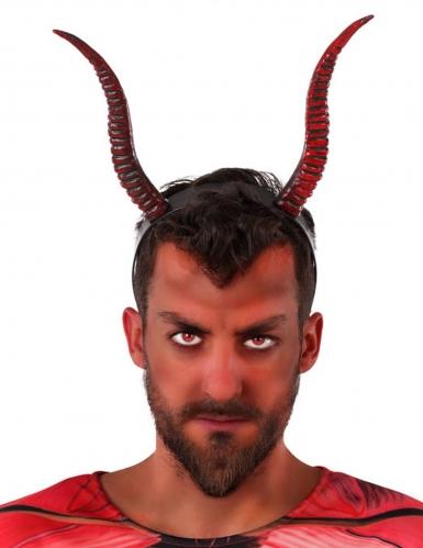 Teufelshörner Haarreif Halloween-Accessoire rot