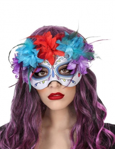 Dia de los Muertos Augenmaske für Damen bunt