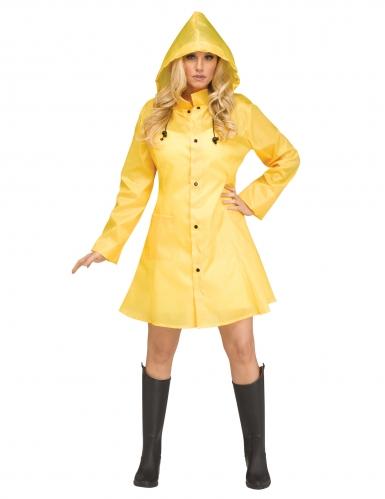 Serienkiller im Regenmantel Damen-Kostüm gelb