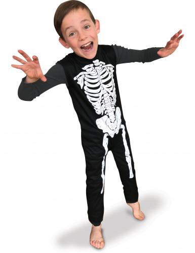 Skelett-Kinderkostüm schwarz-weiss