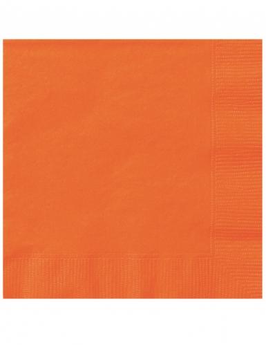 Kleine Papier-Servietten Partydeko 20 Stück orange 25x25 cm