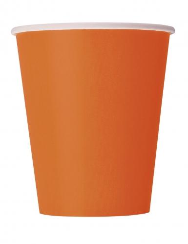 Einweg-Pappbecher 14 Stück orangefarben 266 ml