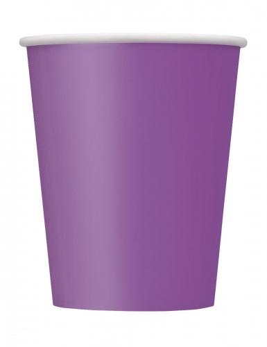 Pappbecher-Set für Halloween 8 Stück violett 266 ml