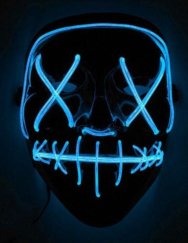 Leuchtende LED-Maske für Erwachsene schwarz-blau