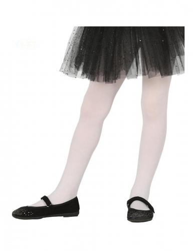 Blickdichte Strumpfhose für Mädchen weiss