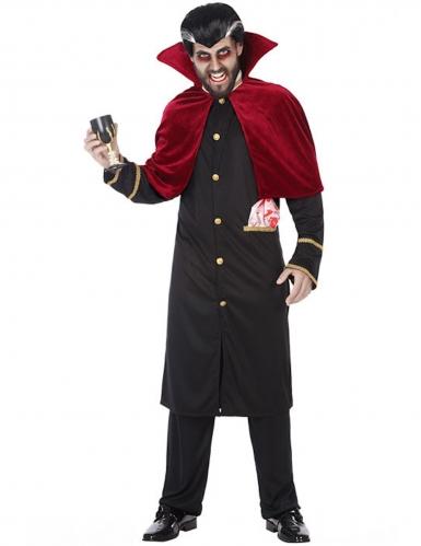 Edler Vampir-Lord Herren-Kostüm schwarz-rot-gold