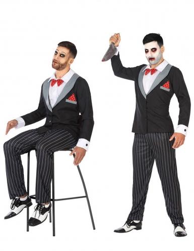 Gruselige Bauchrednerpuppe Herren-Kostüm für Halloween bunt