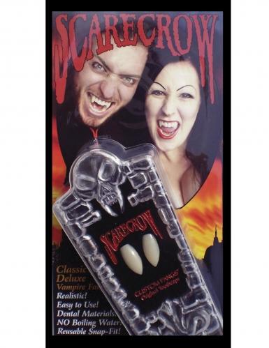 Deluxe Vampirzähne für Halloween 2er-Set weiss