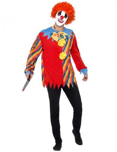 Killerclown-Kostüm für Herren bunt