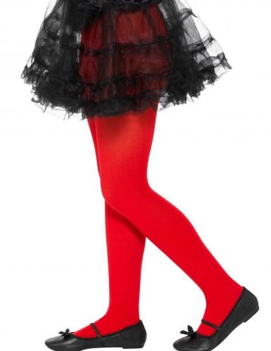 Blickdichte Strumpfhose für Mädchen rot