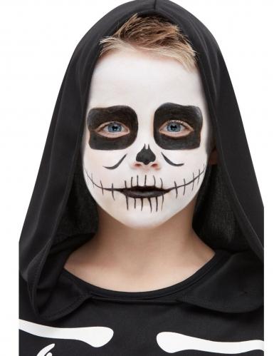 Halloween Make-up-Set für Kinder 5-teilig schwarz-weiss