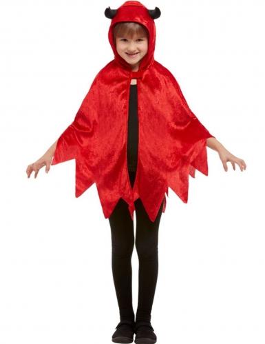 Teufel-Umhang für Kinder rot-schwarz