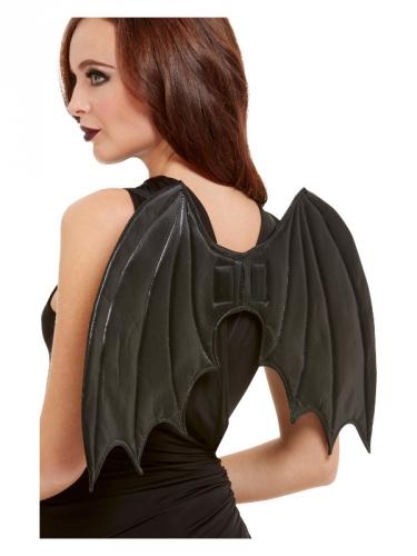 Fledermaus-Flügel für Erwachsene schwarz 50 cm
