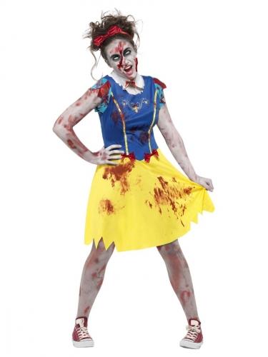 Märchenhaftes Zombie-Prinzessin Kostüm für Damen bunt