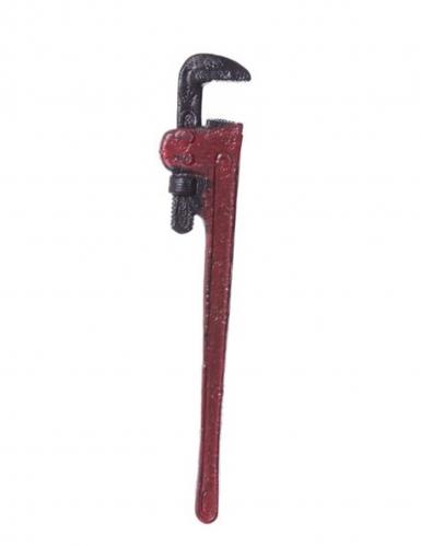 Blutige Rohrzange Halloween-Waffe rot-grau 52 x 9 cm