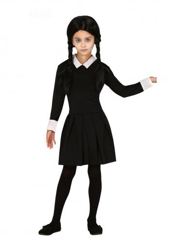 Gothic-Schülerin Mädchen-Kostüm für Halloween schwarz--weiss