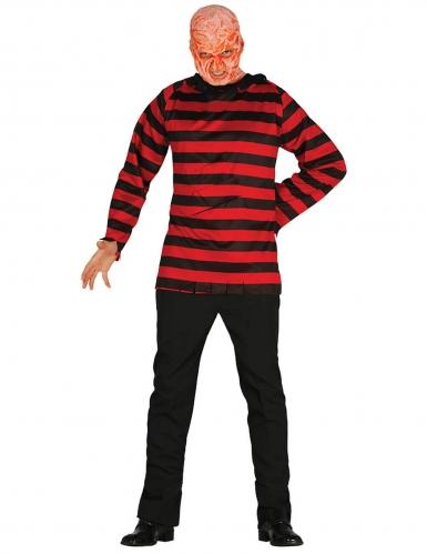 Mörderisches Killer-Kostüm für Herren Halloween-Kostüm rot-schwarz
