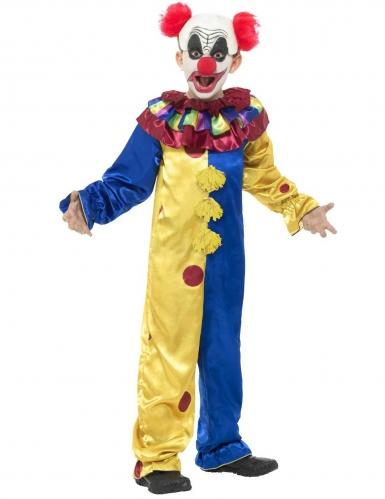Killerclown-Kostüm für Jungen bunt