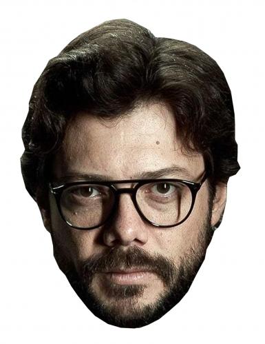 Alvaro Morte-Pappmaske für Herren Bankräuber-Maske beige-braun