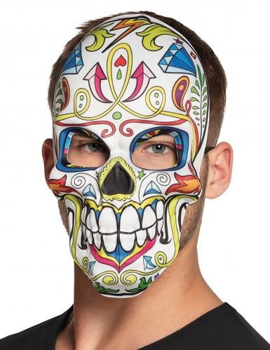 Todschicke Calavera-Maske für Erwachsene bunt