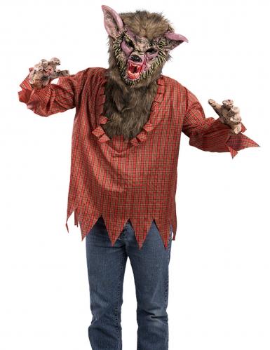 Werwolf-Kostüm für Erwachsene rot-braun