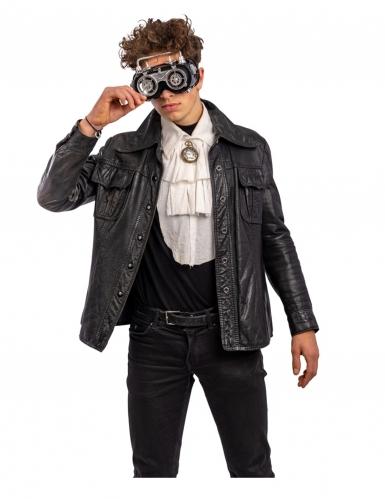 Steampunk-Brille für Erwachsene schwarz-grau