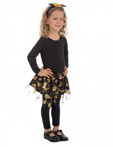Happy Halloween Tutu für Mädchen schwarz-gold