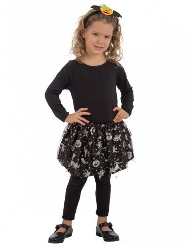 Hexen-Tutu für Mädchen schwarz-silberfarben