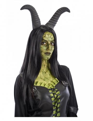Haarband mit Dämonen-Hörner für Erwachsene dunkelgrau