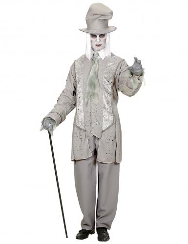 Geister-Gentleman Kostüm für Herren Halloweenkostüm grau