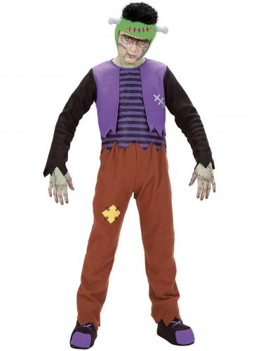 Auferstandenes Monster-Kostüm für Kinder Halloween-Kostüm bunt