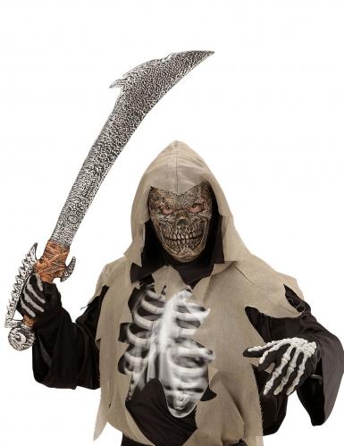 Schaurige Skelettmaske für Kinder grau