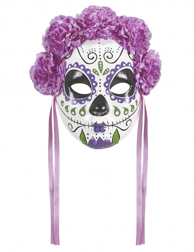 Tag der Toten-Damenmaske Sugar Skull bunt
