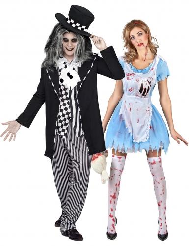 Halloween-Paarkostüm Alice und Hutmacher