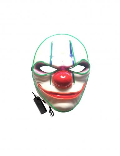 Deluxe Horrorclown LED-Maske für Erwachsene bunt