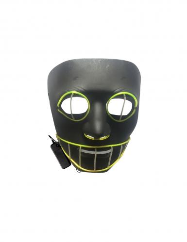 Psycho-Katze LED-Maske für Erwachsene schwarz-grün