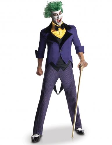 Klassisches Joker™-Kostüm für Halloween violett-schwarz-gelb