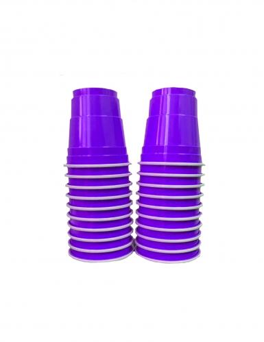 Amerikanische Shot-Gläser Halloween-Partydeko 20 Stück violett