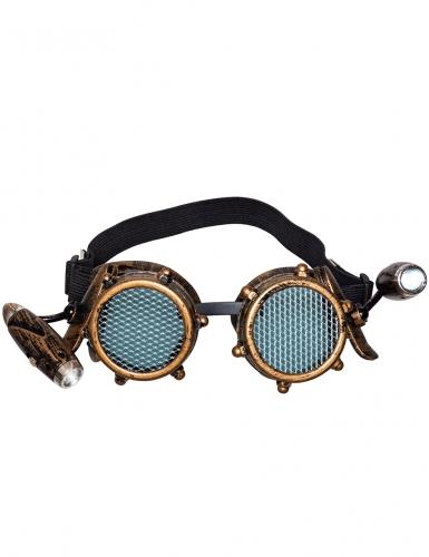 Steampunk-Brille mit Licht