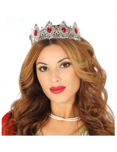 Königin-Krone Vampir-Krone silber-rot