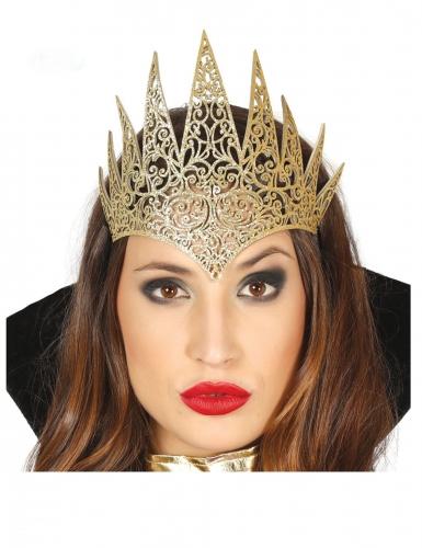 Königin-Diadem für Damen böse Magierin Halloween-Accessoire gold